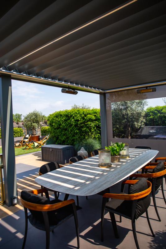 terrassenüberdachung lamellen