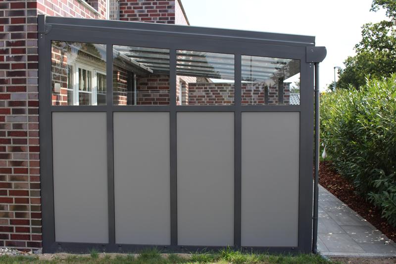 ueberdachung aus aluminium