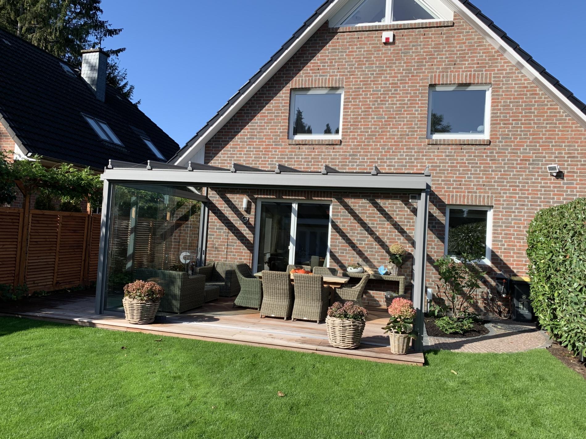 kaltwintergarten aus Alumnium und Glas