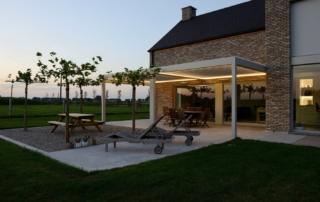 Lamellendach Terrasse