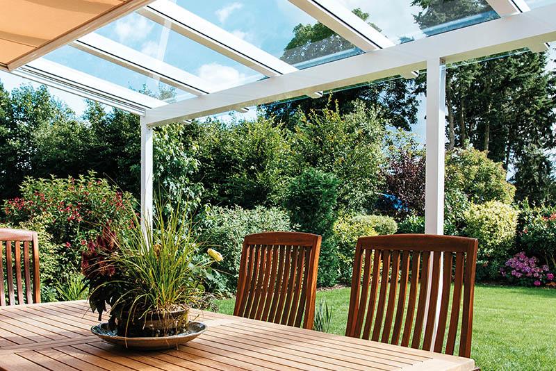 Terrassenüberdachung Aluminium weiß - C & L Terrassendach