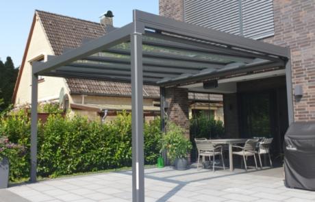 terrasse glasdach